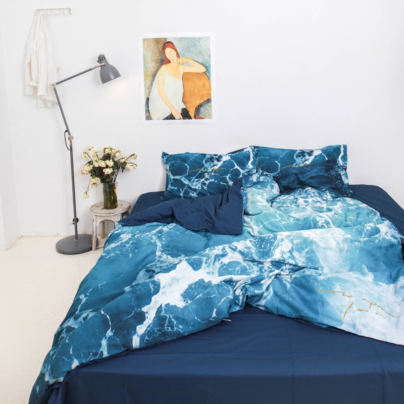lihome洛凡同款纯棉床上三件套床单