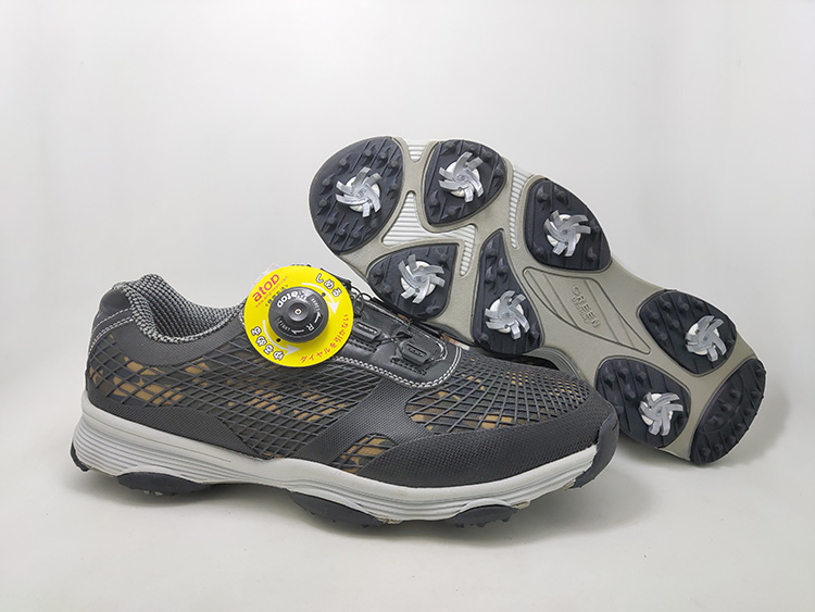 春季新款高尔夫球鞋天然草地训练鞋旋扣鞋带固定钉专业运动鞋特价
