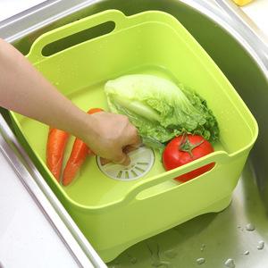 可移动塑料水槽厨房洗菜篮碗碟沥水篮家用洗水果置物架蔬菜收纳篮