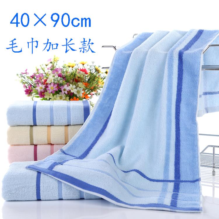 纯棉大毛巾90×40洗澡运动健身加长冲凉长条长款澡巾吸汗绣字LOGO