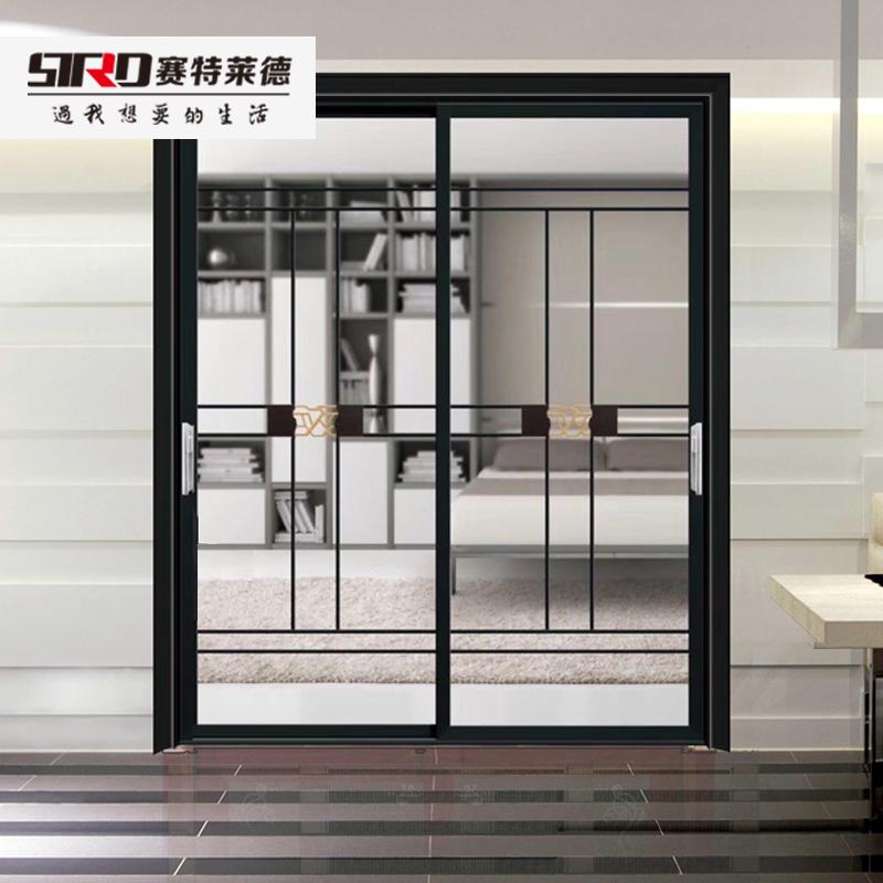 现代简约双层中空玻璃室内门定制客厅阳台衣柜推拉隔断移门厨房