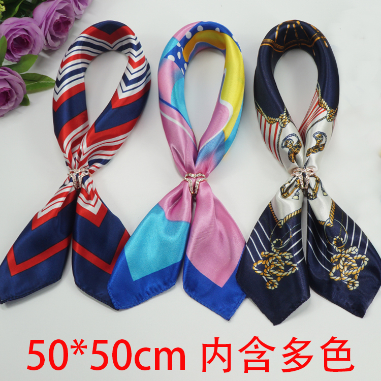 Professional scarves small square scarves small scarves women winter women versatile spring and autumn Korean decorative multi-functional batch