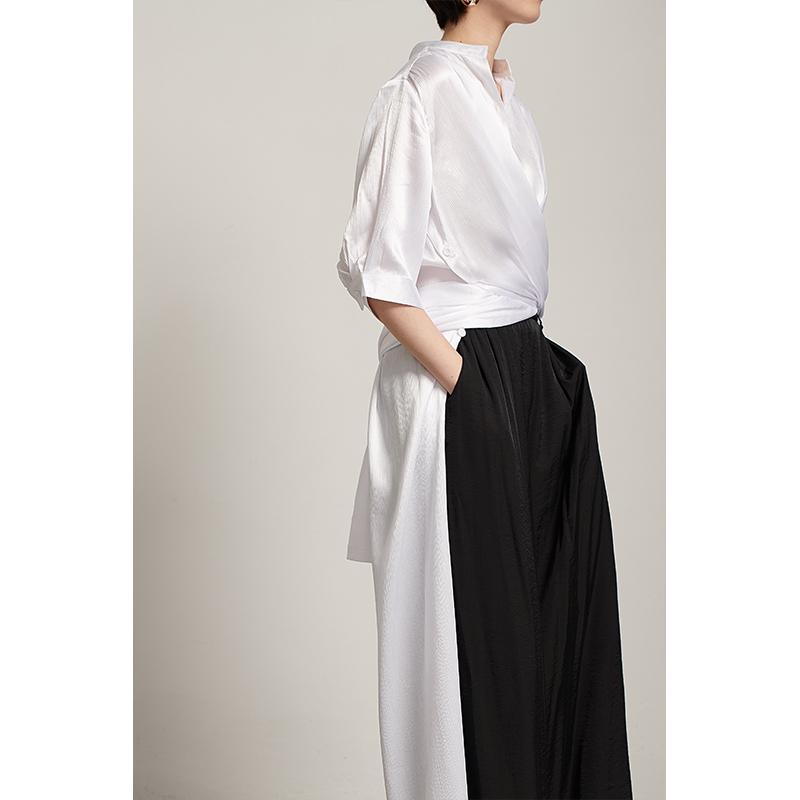 时游自制设计小众衬衫连衣裙女韩版百搭开叉裙多种穿法短袖中长裙券后99.90元