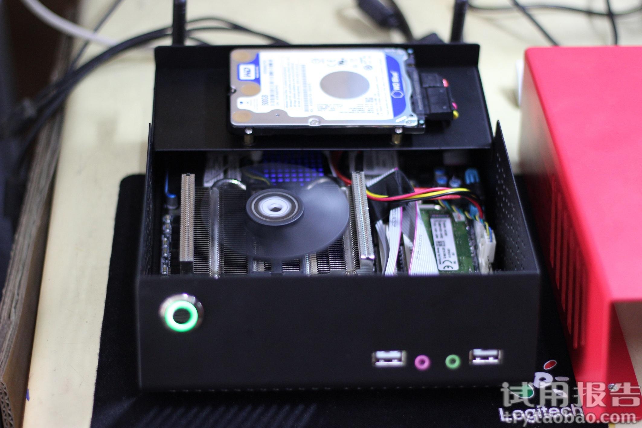 刻印章办公用HTPC超小台式电脑主机