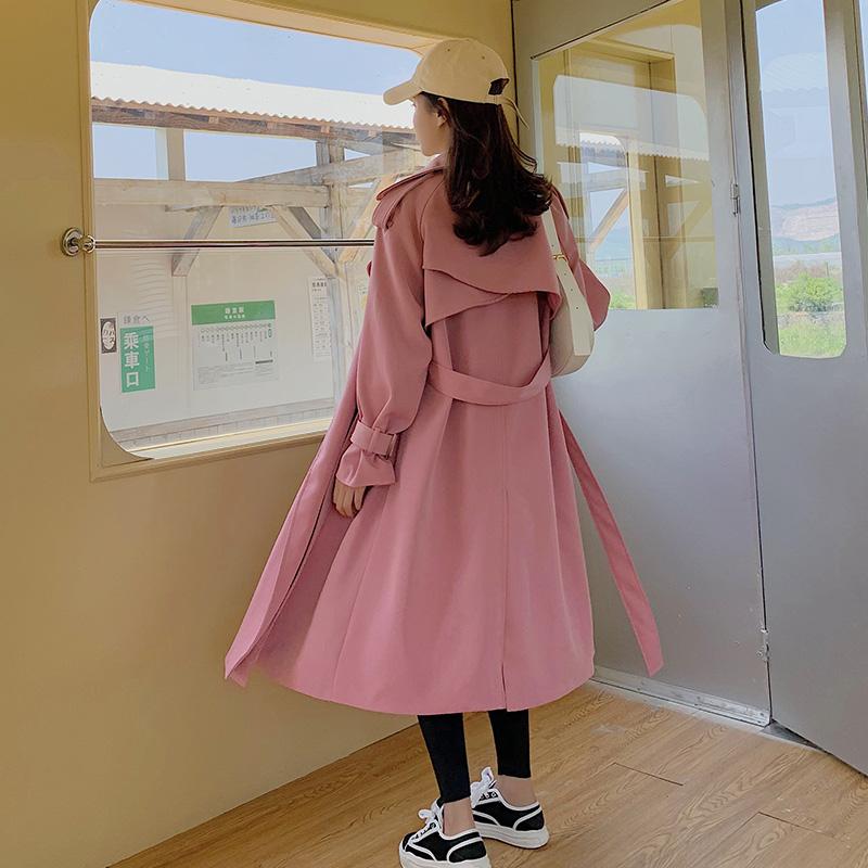 现货力推2021年秋季显瘦过膝风衣外套XW6610P140K198,女装风衣,浙宝171