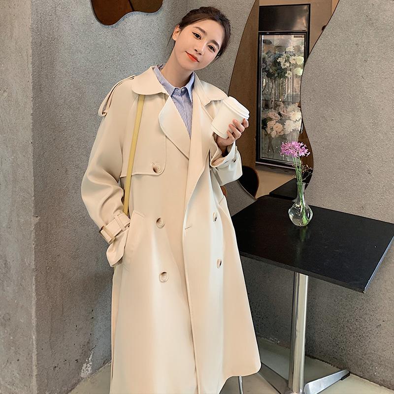 现货中长款小个子英伦风大衣XW6610P140K198,女装风衣,浙宝171