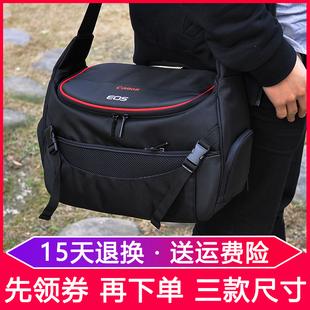 佳能相机包80D90D800D6D5D2EOS单反R RP70D5D4原装单肩便携摄影包