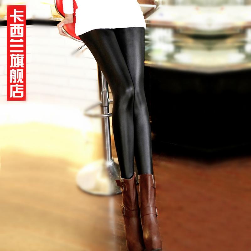 Осень и зима плюс бархат мягкие кожаные леггинсы девушка корейской версии Мэтт кожаные штаны носить брюки ноги брюки прилива плюс размер женской одежды