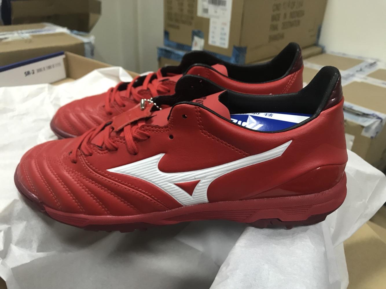 正品现货美津浓袋鼠皮AS世界杯莫雷拉TF碎钉足球鞋 P1GD185562