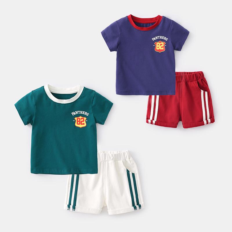 儿童运动套装男童短袖纯棉夏季t恤热销16件正品保证