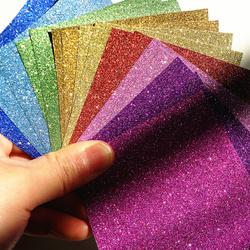 流沙彩纸千纸鹤纸玫瑰学生儿童diy手工折纸材料剪纸压花纸幼儿园