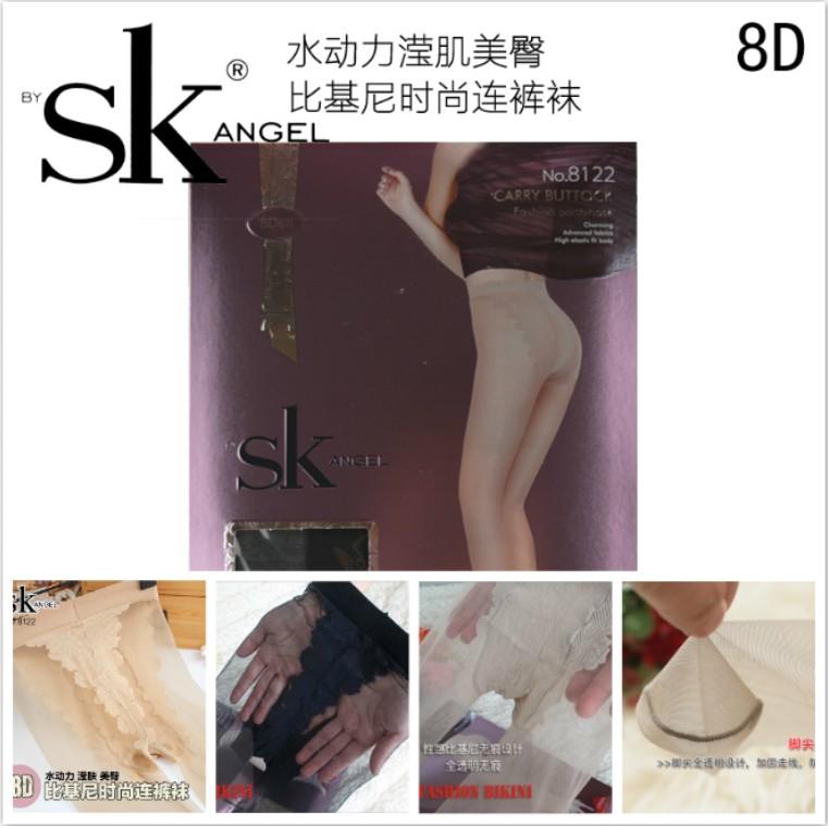 博弈SK 新款超薄比基尼连裤袜 秒杀0D极薄夏季防脱丝丝袜 sk8122