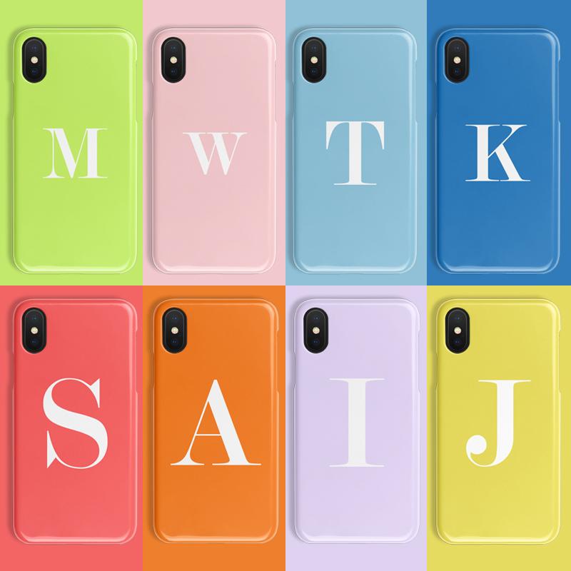 满78.00元可用39元优惠券纯色字母苹果11定制x半包xr手机壳