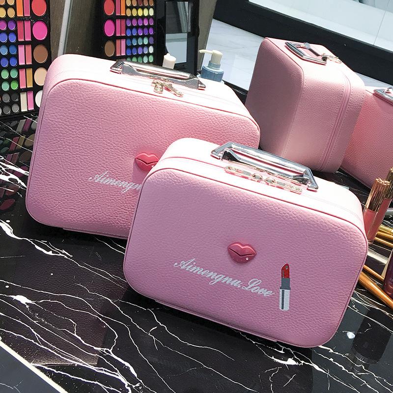 大小号手提定型化妆包防水定型化妆品收纳包袋pu化妆箱便携大容量图片