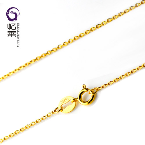 Yilai counter 18K Gold Necklace Jewelry exquisite fashion womens q-chain parcel mail Belt Certificate