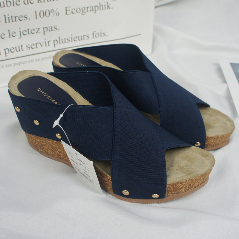 Special price cork high heel sandals 2021 new womens fashion pure color Han Fan high water platform open toe shoes