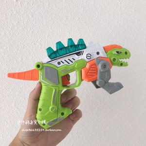 包郵小恐龍聲光手槍變形機甲玩具槍 燈光音樂槍兒童益智拼裝玩具