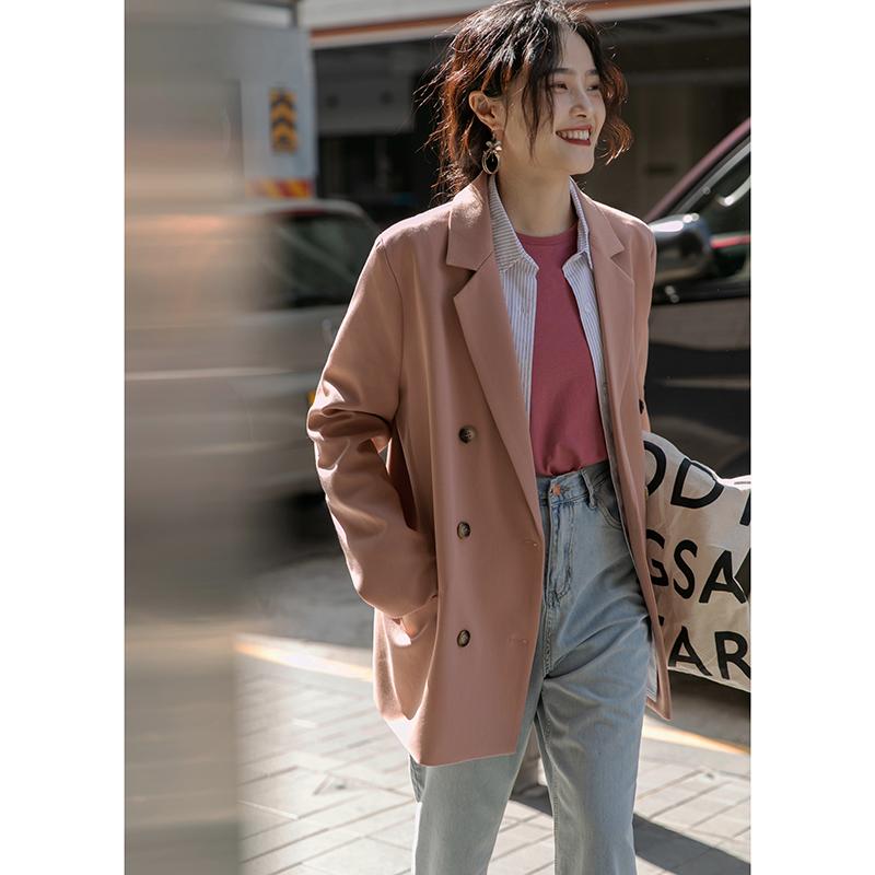 觅定设计休闲小西装外套女设计感小众韩版英伦风网红西服爆款春秋