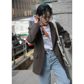 觅定设计感小众西装外套女秋冬短款小个子休闲韩版西服上衣2020年图片