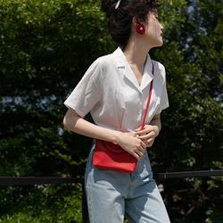 觅定复古法式短款上衣女夏心机锁骨短袖白衬衫设计感小众港风百搭