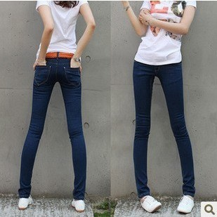 2013 autumn and winter new Korean version was thin plus thick warm velvet jeans feet pencil pants boots pants women