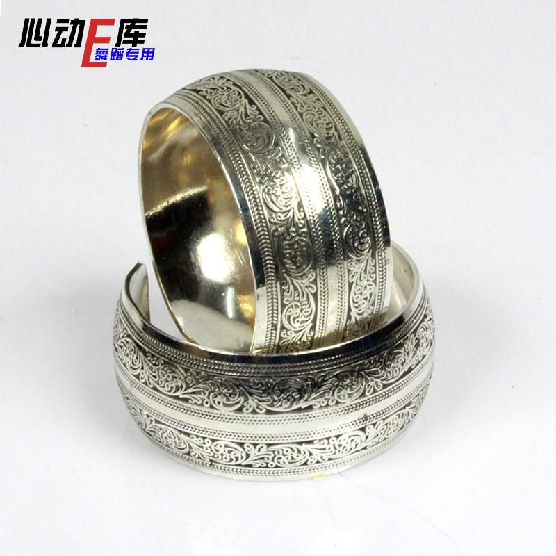Yiwu цена на заводе | Тибетские аксессуары для танцев Мяо | этнические украшения - копия Древний цветок принт Кольцо браслета 12 юаней для установки