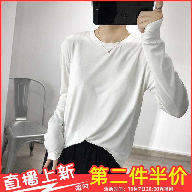 10-11新券弹力面膜t恤长袖2019秋季风打底衫