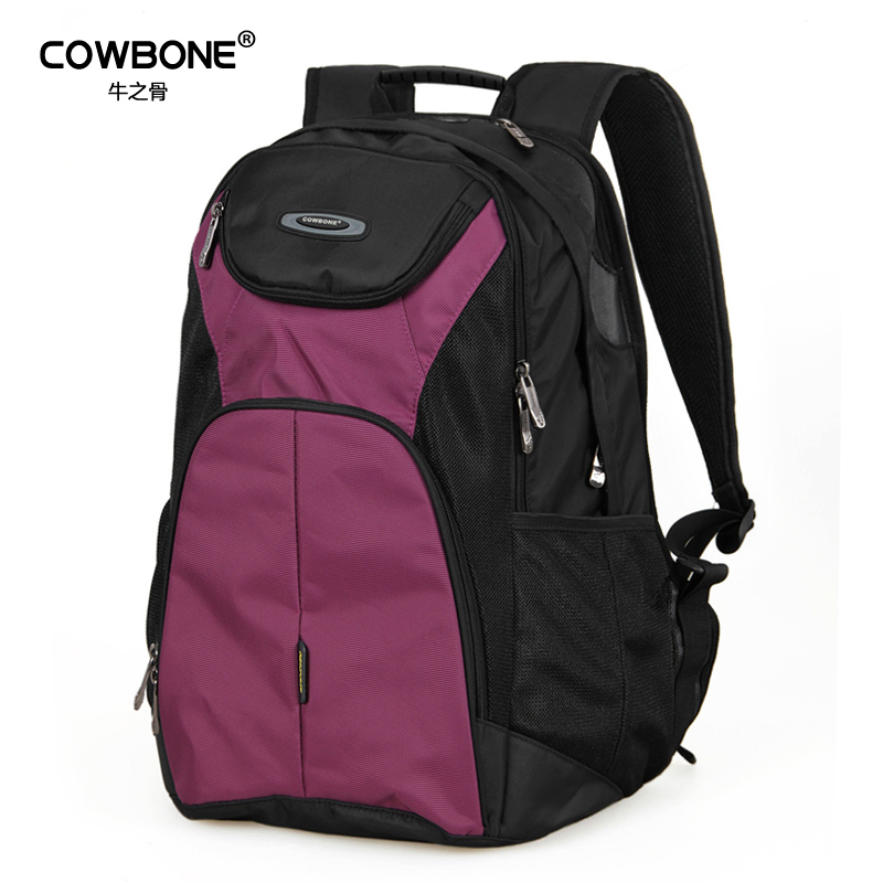 Cattle bone backpack women and men Korean version of large capacity backpack computer backpack leisure mens Travel Backpack