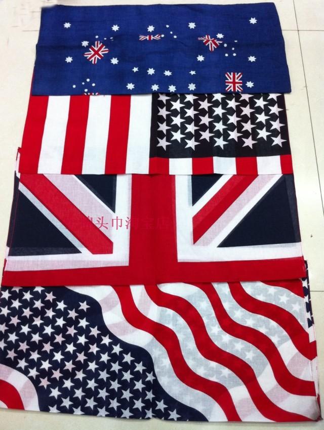 Открытый хлопок шарф хип-хоп хип-хоп хип-хоп мода площадь танца танцовщица американский флаг бандана