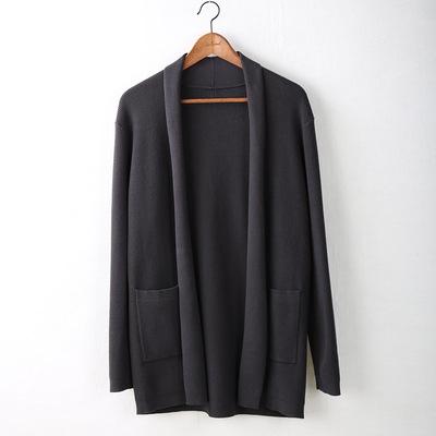 設計師男裝春秋針織衫男士開衫毛衣外套修身潮流休閑披肩單農5cm