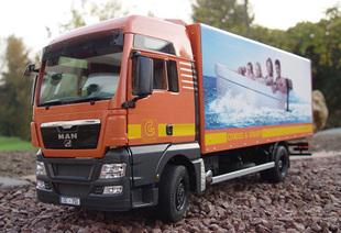 ScaleART Germany Volvo MAN TGX remote dense lorry finished model 3 axis