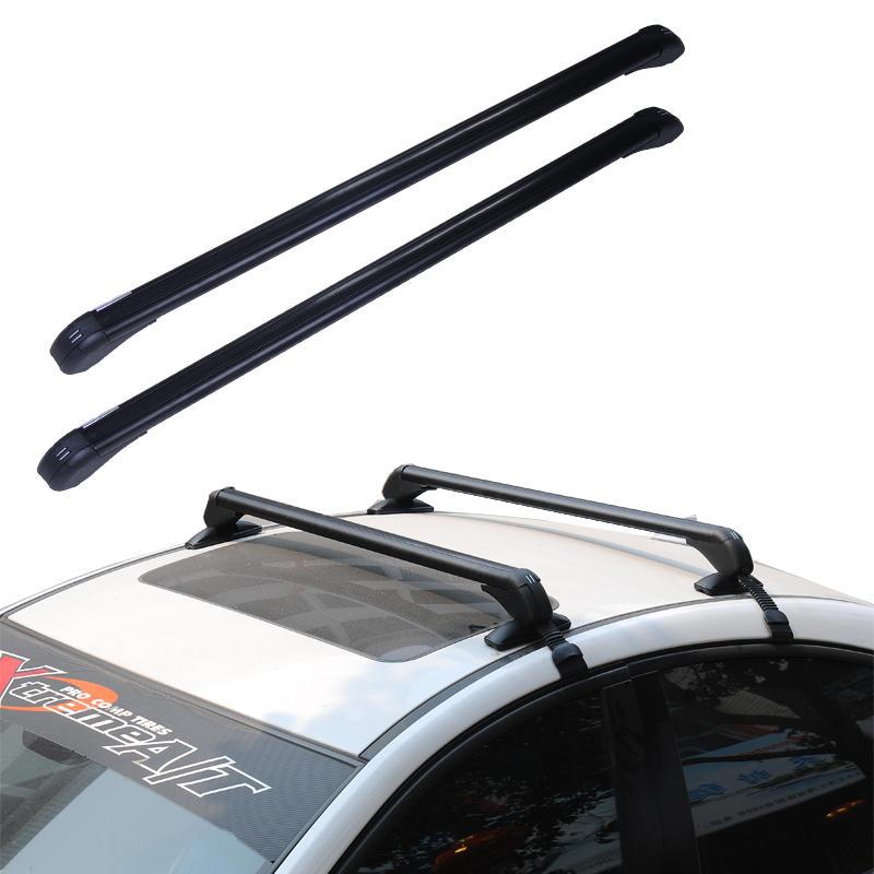 新品汽车行李架横杆载重车顶架改装专用铝合金带锁自行车架通用型