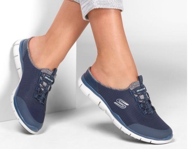 Skechers  斯凯奇 女鞋  穆勒鞋舒适半拖 包头拖鞋 休闲鞋 104018