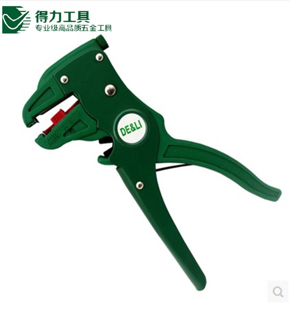正品 得力鸭嘴剥线钳电工工具拨线钳电线剥皮器 多功能剥线钳2003