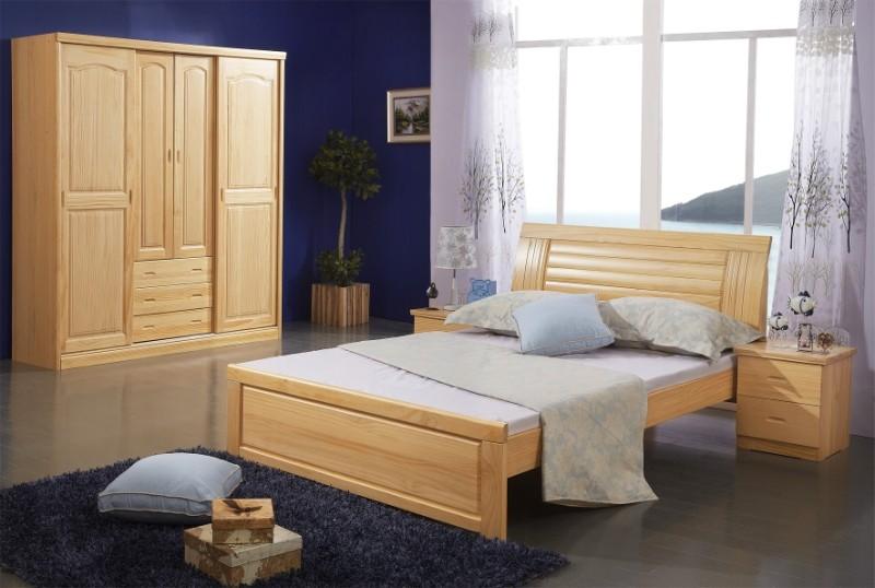 红星专柜不变色新西兰松木床纯实木床实木家具双人床单人床儿童床