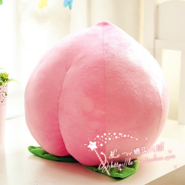 粉嫩大號水蜜桃抱枕毛絨玩具模擬水果桃子教學舞蹈表演道具大壽桃
