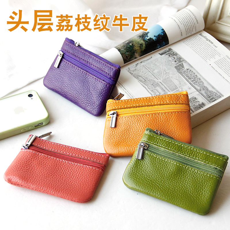 Cost price offset 3 crown Leather Pocket Coin Bag Leather Pocket Mini card bag
