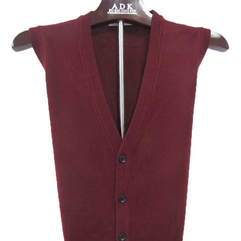 Fall 2018 heart of the elderly mens V-neck Cardigan Sweater Vest father jacket