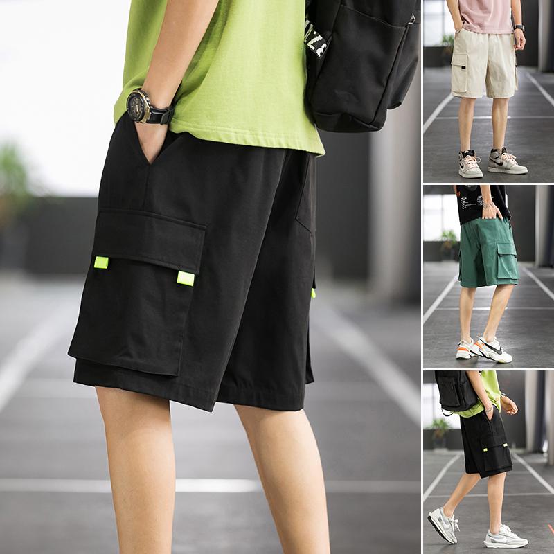 篮球场 夏季潮流宽松直筒 休闲短裤男工装裤 20208-K863 P30