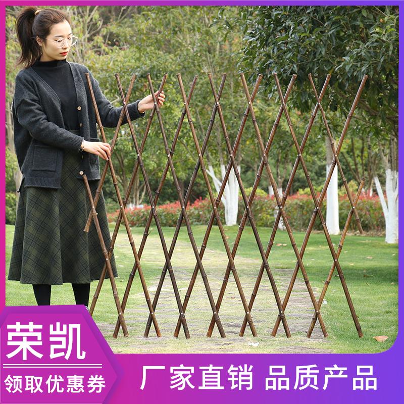 竹篱笆栅栏爬藤庭院花园竹子花架