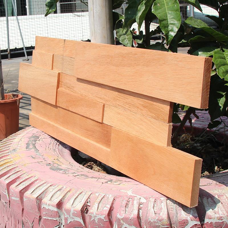 老旧船木实木马赛克电视背景墙装饰木条板材木头木质木马赛克装饰