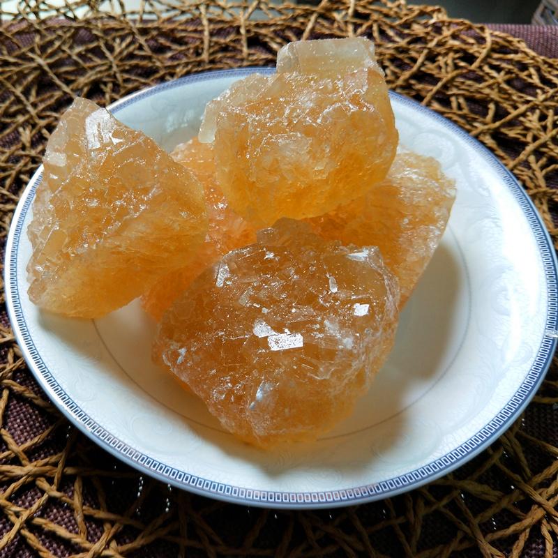 新货冰糖 结晶老黄土冰糖 土方法无添加黄冰糖小块 甜而不腻 500g