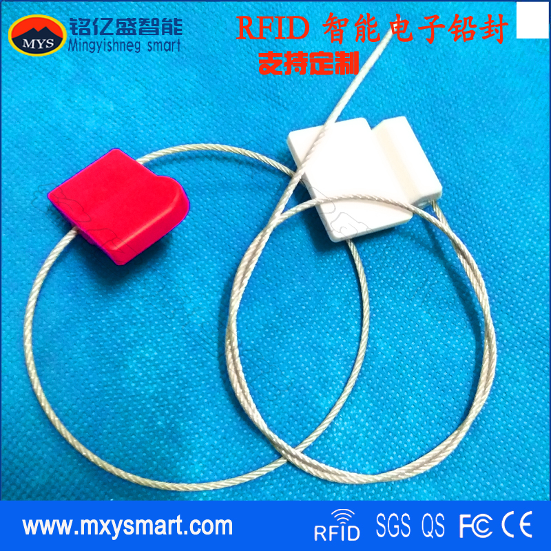 UHF electronic lead sealing label steel wire logistics seal application blocking disposable UHF anti dismantling electronic label