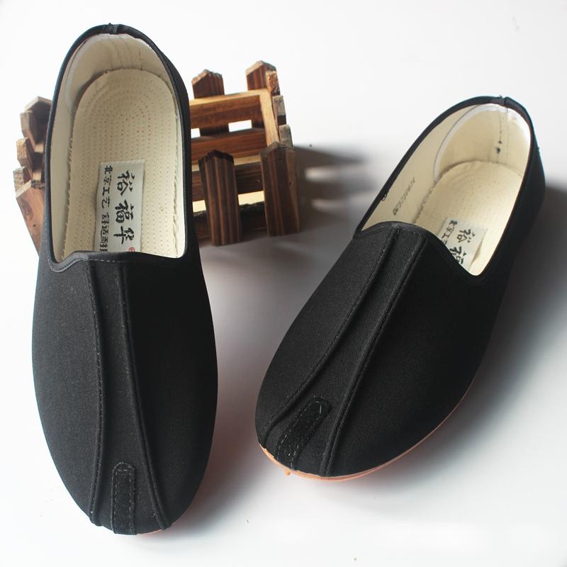 裕福华洒鞋春季老北京布鞋男款一脚蹬懒人鞋社会鞋开车鞋休闲鞋