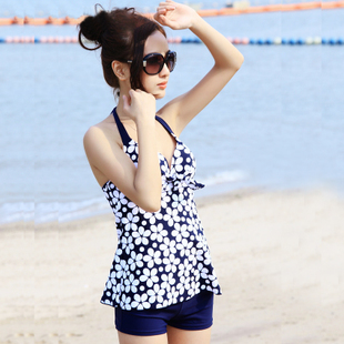 Spa swimsuit 2013 new South Korean boxer swimsuit piece steel prop gather swimsuit cover the belly was thin Ms