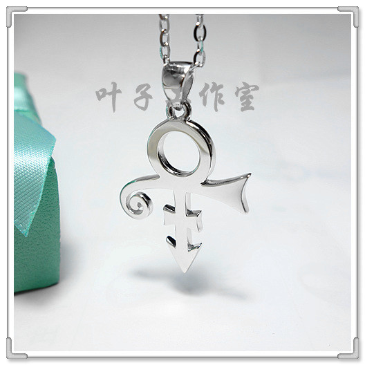 Androgyny Symbol Pendant 925 Sterling Silver Necklace created by Prince, a famous American singer
