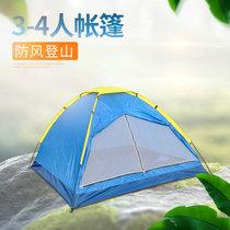 双人野营野外露营账蓬套餐2人自动帐篷家用加厚防雨43帐篷户外