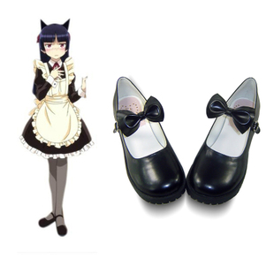 antaina lolita princess shoes new low heeled shoes c021 Catwoman cos bow shoes