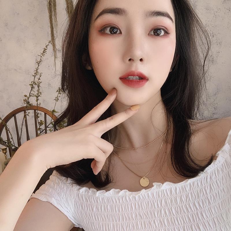 买三送一韩版简约网红脖子女森系学生锁骨链