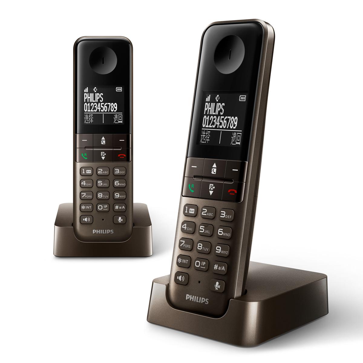 飞利浦电话机 dctg450数字无绳电话机单机 子母机 办公家用 座机
